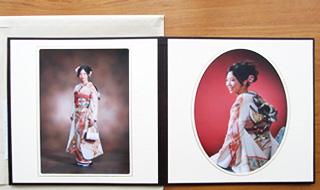 六つ切り2カット【2つ折り台紙付き】立木写真舘の画像